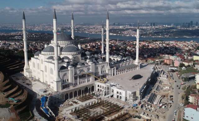 Personally supervised by President Recep Tayyip Erdogan, Turkey's biggest mosque has been under construction since 2013 and its finishing soon.