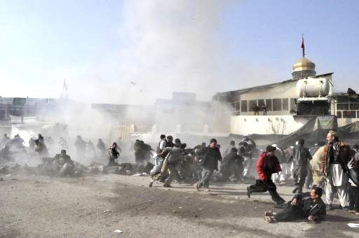 Bombing targets Afghan interior ministry building, 6 killed