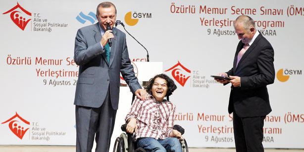 Working disabled people over 125K in Turkey