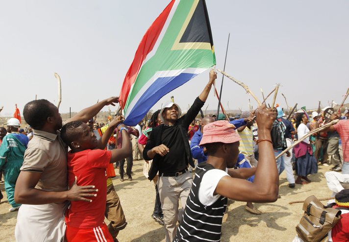 South Africa police deploys army to quell protests, 59 arrested