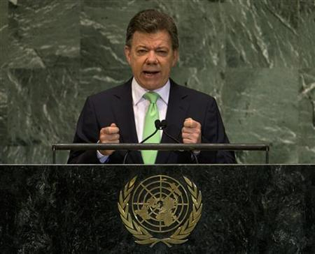 Colombia's Santos asks Trump to support peace process