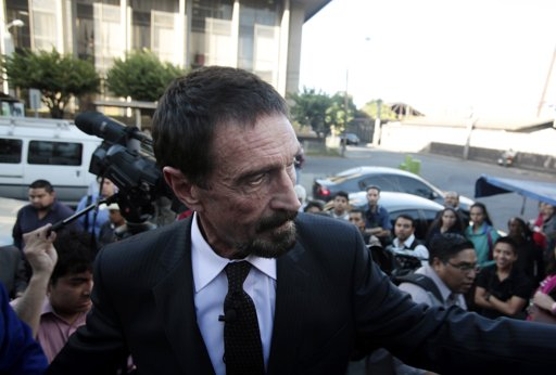 John McAfee unveils complaint website at hacker conference