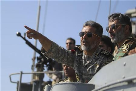 Iran stages war games, boats hit mock-up U.S. ship