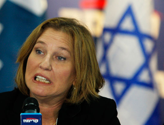 Livni: U.S. should change role in Mideast peace talks