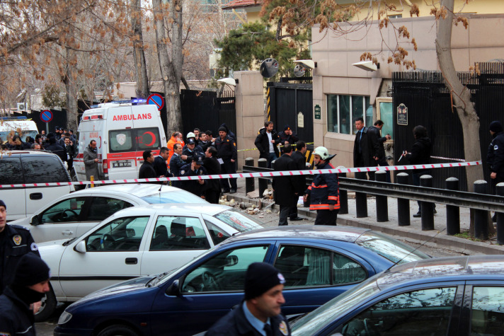 Turkish police seal off street outside U.S. consulate, detain suspect