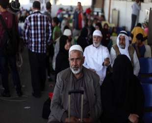 419 Palestinian pilgrims cross Egypt's Rafah crossing