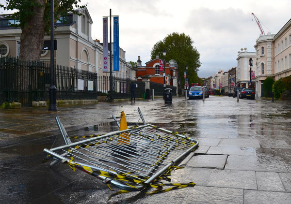 St. Jude storm hits Britain, two dead