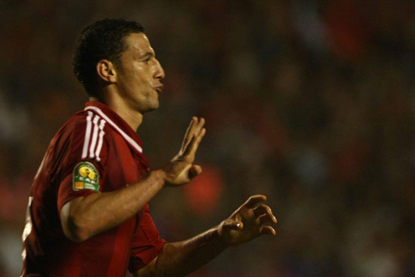 Egyptian player flashes Rabia sign in Africa Championship final