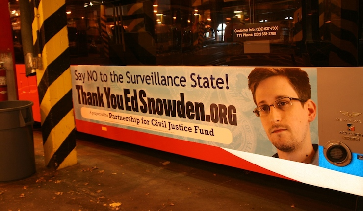 Ads thanking Edward Snowden appear on DC buses