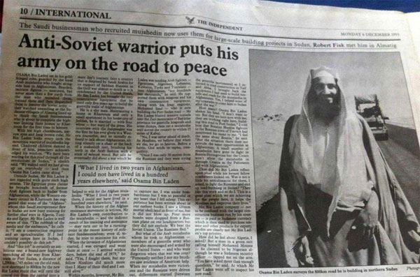 UK media portrayed Bin Laden as a 'warrior' 20 years ago