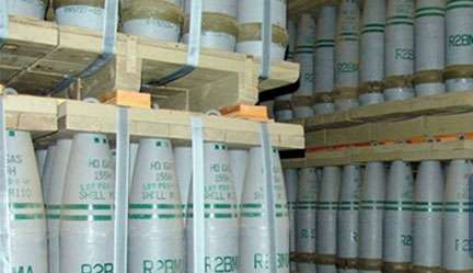 Syria chemical stockpile arrive in the UK