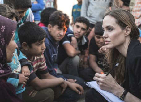 Actress Angelina Jolie visits Bosnia to campaign against war rape