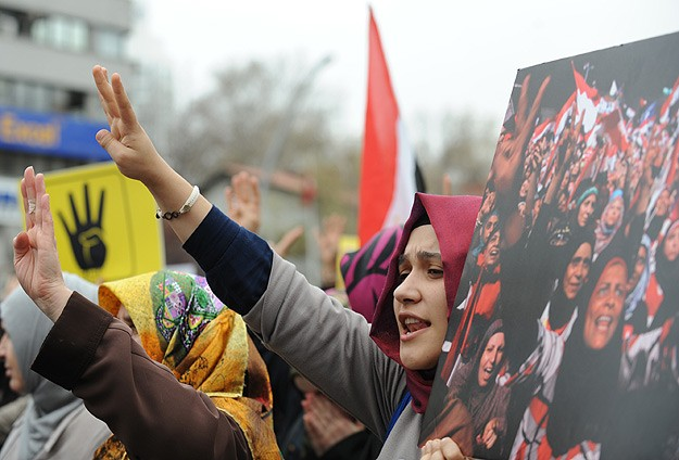 Protests in Turkey against Egypt death sentences
