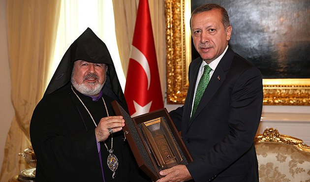 Turkish Armenian church leader meets PM Erdogan