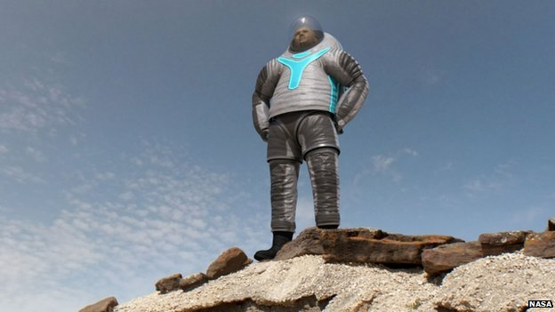 NASA reveals new spacesuit for Mars mission