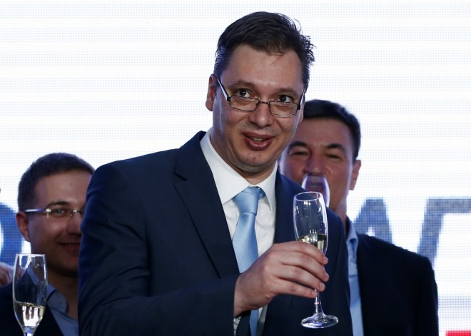 Serbian PM accuses EU of backing anti-government media
