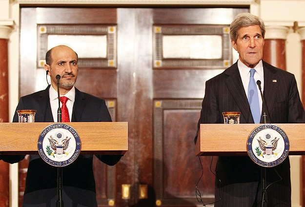 US's Kerry meets with Syrian opposition chief
