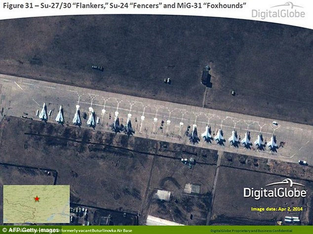 U.S. releases satellite images of Russian forces near Ukraine