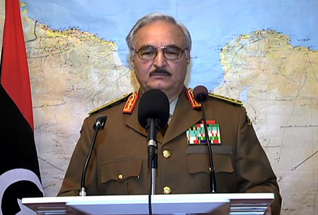Libyan army chief in call to fight ex-general's forces