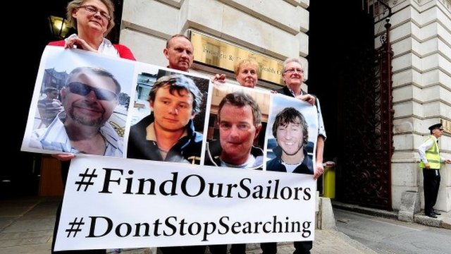 Britain sends military plane to help search for missing sailors
