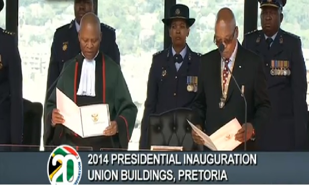Thousands gather for inauguration of S. Africa President