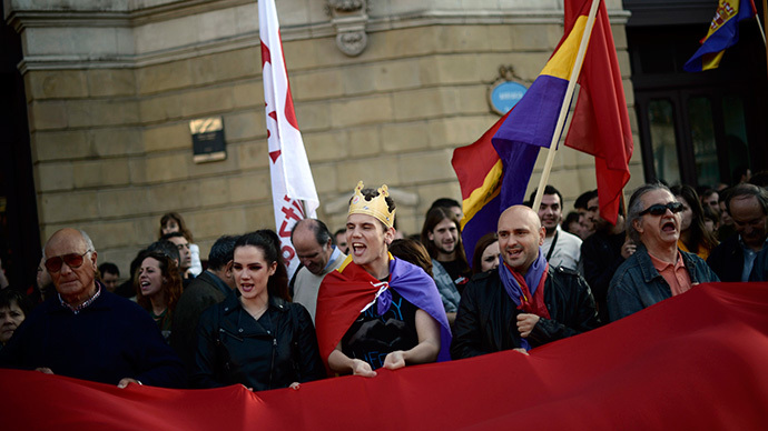Spanish call for referendum on monarchy