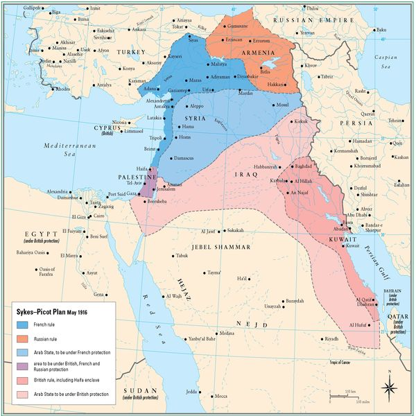 The Sykes-Picot treaty: A century of sharing in the Middle-East