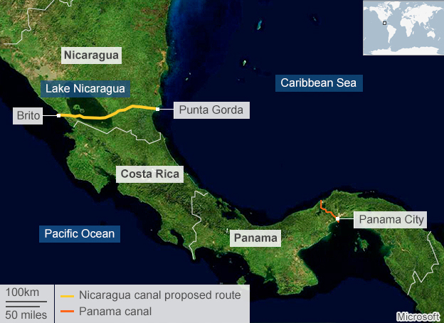 Construction of Nicaragua canal to begin Dec. 22