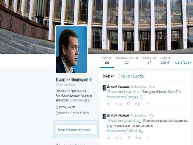 Russian PM's office denies spoof tweet saying he quits