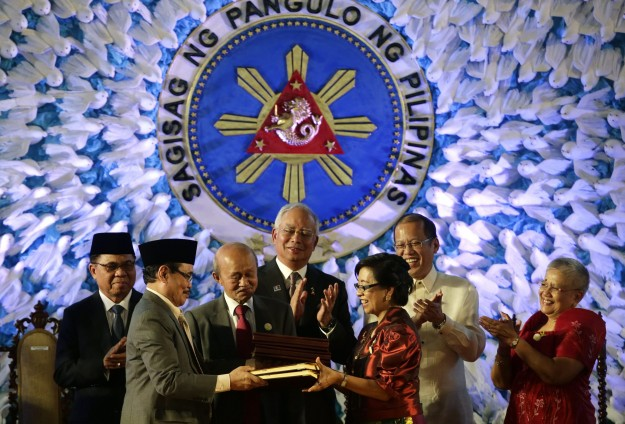 Philippine president submits law on Muslim south