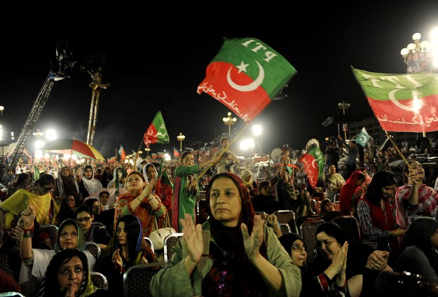 Clashes resume in Pakistani capital, police firing teargas -UPDATED