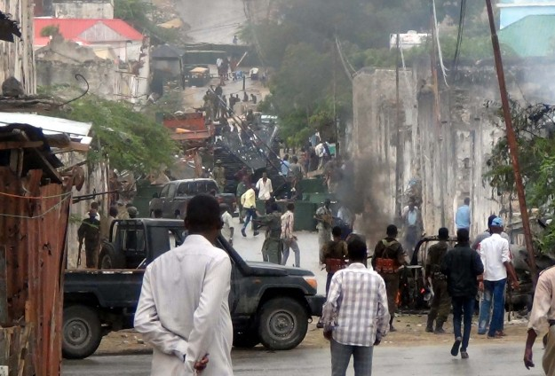 Bomb explodes near Turkish delegation in Somalia day before president's visit-UPDATED