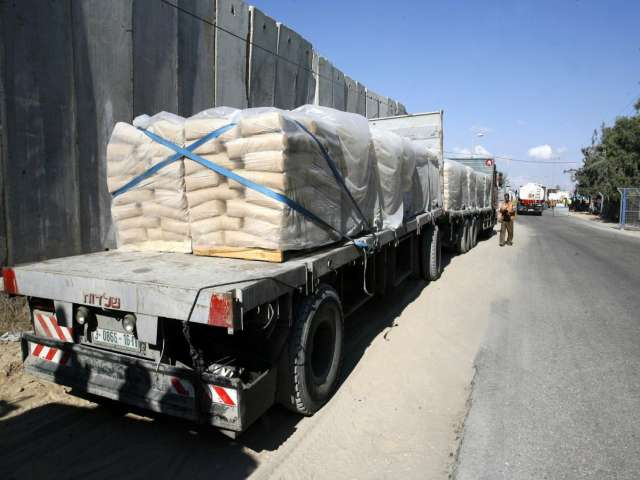 Building materials allowed into Gaza Strip -UPDATED