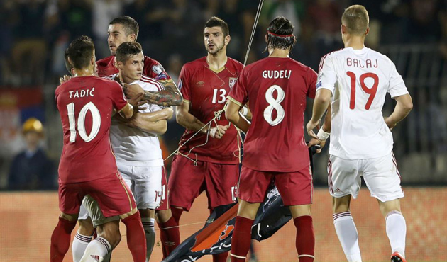 UEFA penalizes Serbia and Albania over match violence