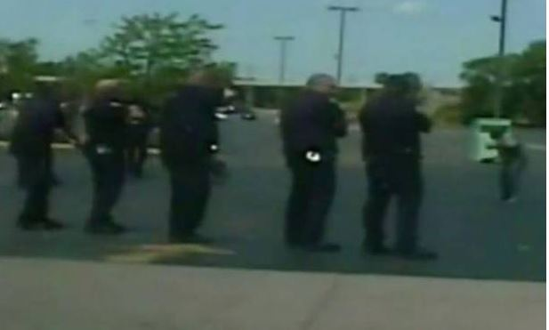 Video shows US police firing 46 times at black man