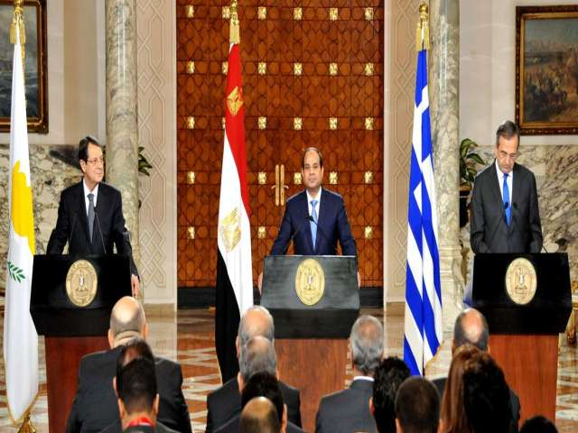 Egypt, Greece, Greek Cyprus pledge to boost cooperation