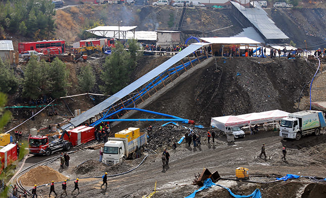 Turkish rescue teams find 6 more bodies in flooded mine