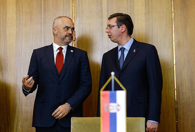 Albanian, Serbian leaders clash over Kosovo during historic visit