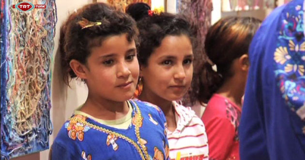 Street children in Arbil opened art exhibition