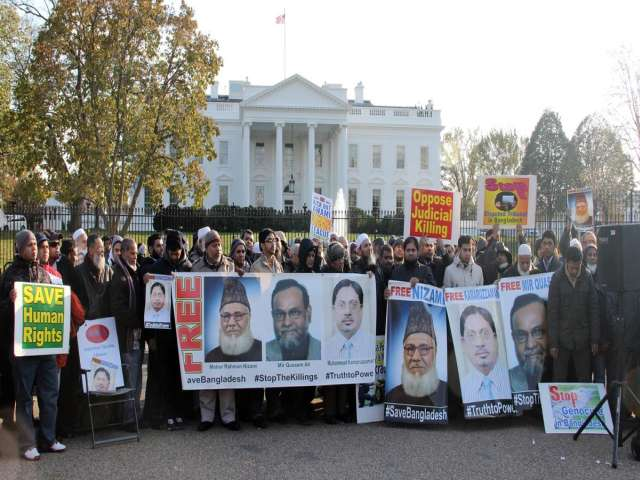 Bangladeshi court decision protested in front of White House