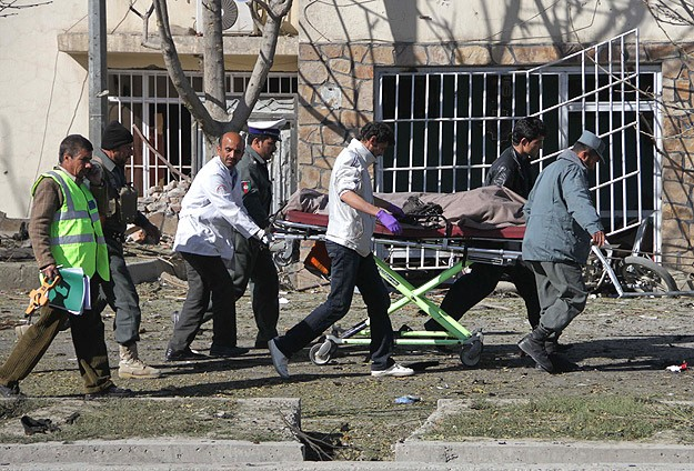 Bomb kills six Afghan soldiers on Kabul bus, hits French-run school