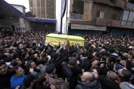 Thousands mourn Hezbollah fighter killed in Israeli attack
