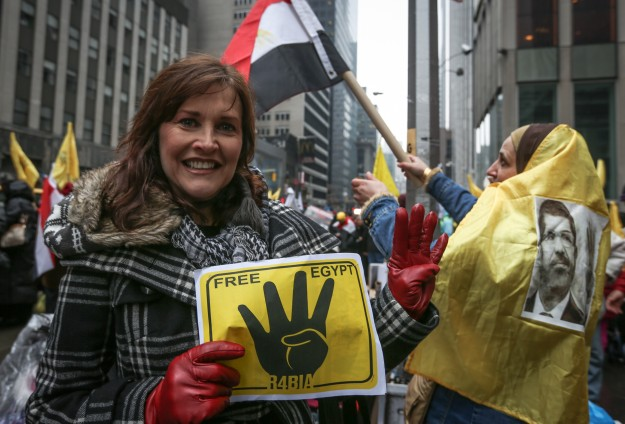 Egyptians hold anti-coup rally in New York