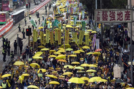 Thousands attend pro-Beijing rally in Hong Kong