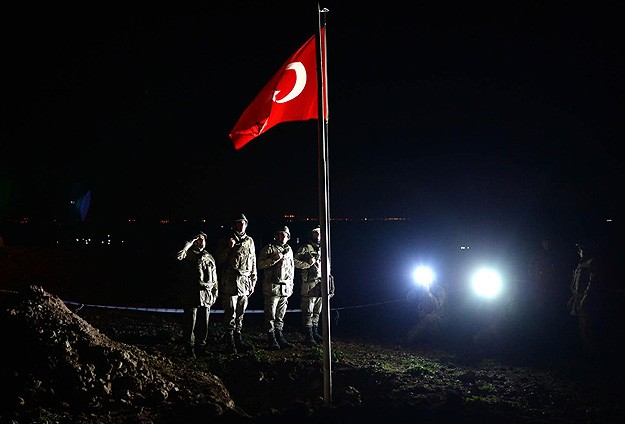 Turkish flag waved at new location in Syria