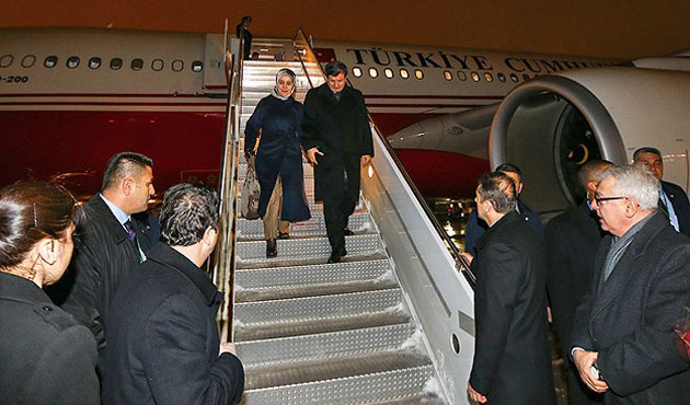 Turkish PM arrives in New York