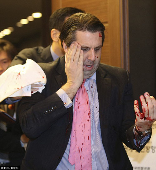 South Korea charges U.S. envoy attacker with attempted murder