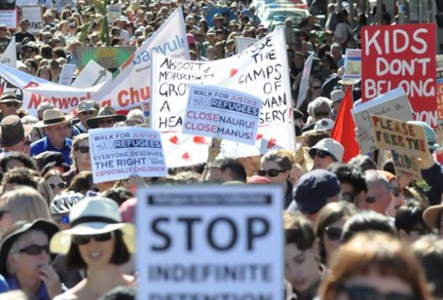 Australians march to protest refugees policies