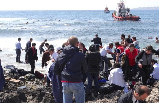 Italy rescues 70 Afghan, Iraqi migrants from crowded boat
