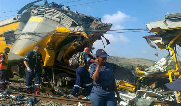 Two passenger trains collide in South Africa
